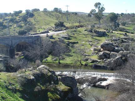 El Río Cedena a su paso por Villarejo