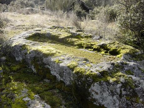 vista del corte de la piedra
